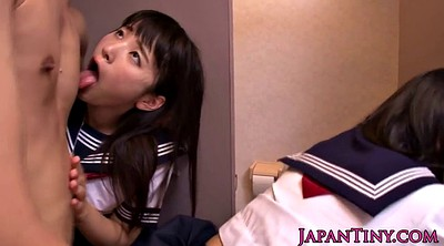 Japanese schoolgirl, Japanese threesome