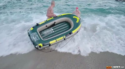 Small, Spanish, Boat, Fainting, Beach fuck, Chubby double penetration