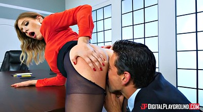 Desk, Office pantyhose, Pantyhose pussy