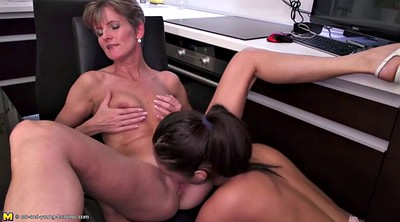 Daughter, Kitchen, Lesbian mom, Mom daughter, Kitchen mom, Kitchen mature