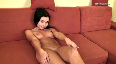 Virgin, Russian, Anna, Teen close up, Expose