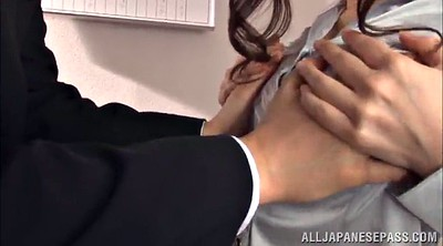 Skirt, Pantyhose handjob, Office handjob