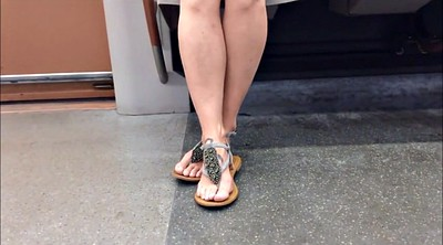 Candid, Fetish, Hidden cam, Sandal