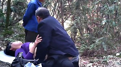 Asian granny, Mature asian, Forest