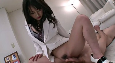 Japanese handjob, Submissive, Japanese femdom, Japanese facesitting, Japanese milf, Lick feet