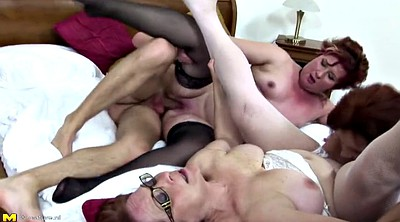 Matures, Mature gangbang, Mother son, Granny gangbang, Young son, Group granny