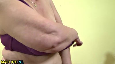 Undressing, Undressed, Busty granny