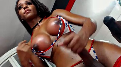 Tanned, Shemale big cock, Tgirl, Solo shemale
