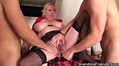 Old, Old wife, Mature wife, Double penetration mature