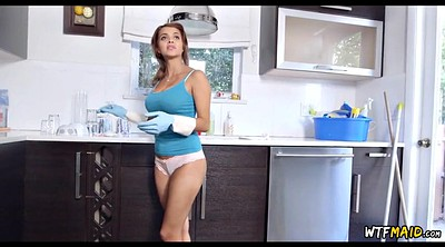 Money, Latina maid, Naked for money, Cleaning