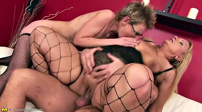 Mature creampie, Threesome creampie