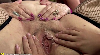 Pissing lesbian, Mature and young lesbians, Granny fucking