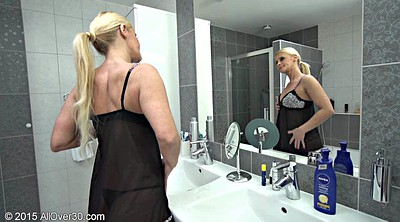 Granny masturbation, Bathroom
