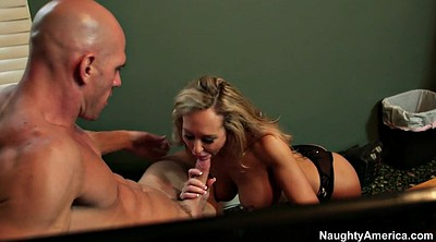 Brandi love, Office milf, Kissing