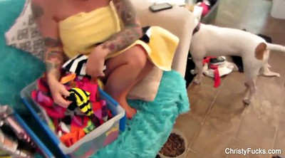 Behind the scenes, Christy mack