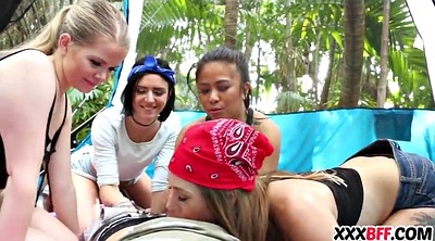 Share, Teen girls, Camping