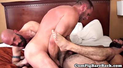Mature threesome, Mature gay, Gay bareback, Mature sex, Mature group sex, Lingerie threesome