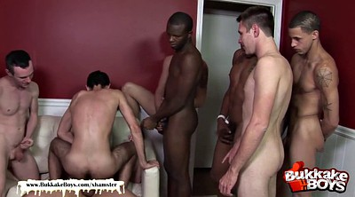 Gangbang, Gay hairy, First big cock, First anal