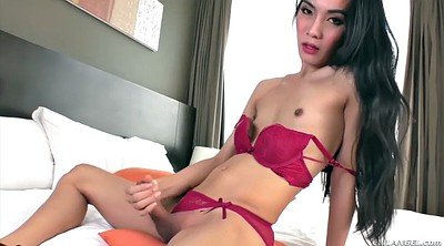 Tranny, Big cock, Jerk off