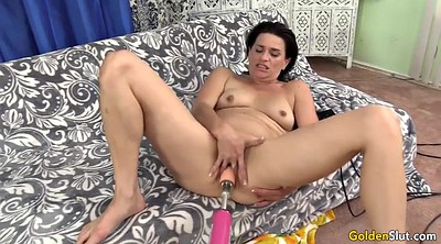 Machine, Mature dildo, Granny dildo