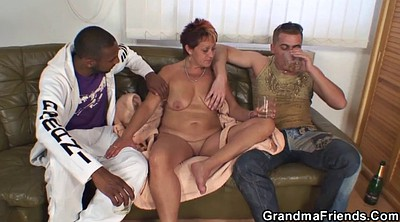 Grandma, Grandmas, Young wife, Riding mature, Old and young threesome