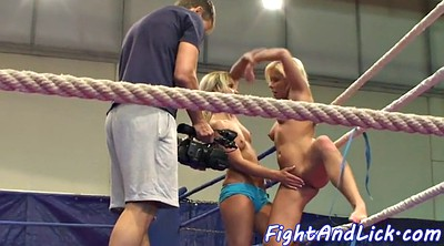Wrestling, Oral, Lesbian fight, Fighting