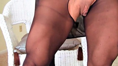 Pantyhose foot, Black foot, Ebony pantyhose