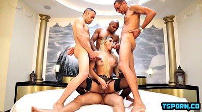 Shemale threesome, Shemale gangbang, Shemale cumshot