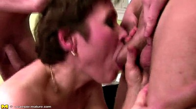 Milf, Mom fuck boy, Mom boy, Mature and boy