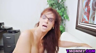 Glasses, Busty mom, Angry, Large tits, Busty moms, Big tits mom