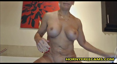 Busty mature, Mature masturbating