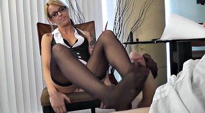 Glasses, Milf footjob, Feet fetish