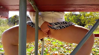 Voyeur wife, Park, Wife outdoor