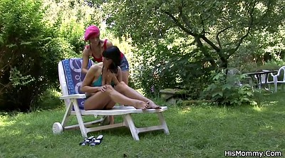 Mature mom, Teen dildo, Mom sex, Granny lesbian, Outdoor mom, Mom dildo