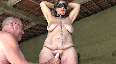 Masturbating, Mature slave, Mature bdsm