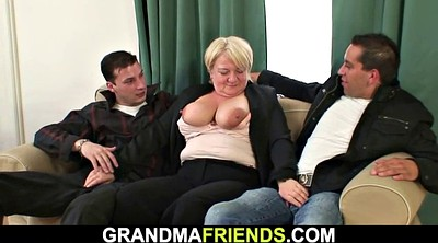Mature threesome, Granny threesome