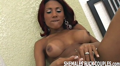 Shemale threesome, Tranny, Can