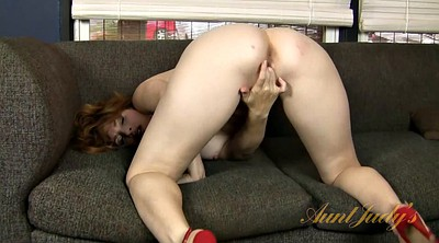 Milf solo fingering, Redhead solo fingering, High-heeled