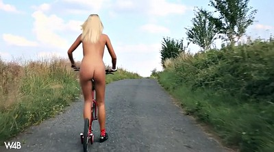 Solo orgasm, Nude, Tracy, Bicycle