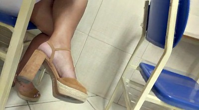 Hidden cam, High, Brazilian feet, High heels