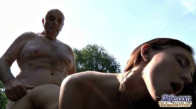 Grandpa, Clit, Lick, Teen girl, Grandpas