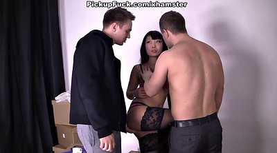 Pick, Girl, Pick-up, Threesome amateur
