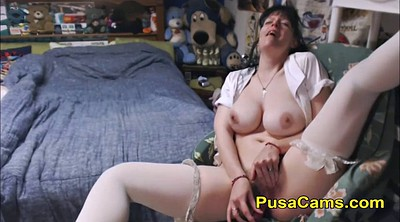 Toy, Old woman, Hairy mature solo