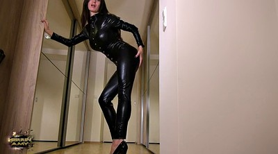 Leather, Latex milf, Latex feet, Black feet