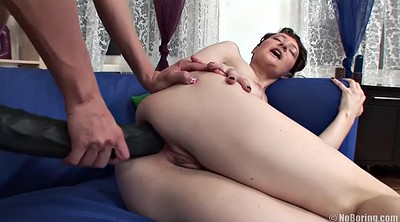 Strapon, Russian anal, Anal toy, Olga, Tears, Russian ass