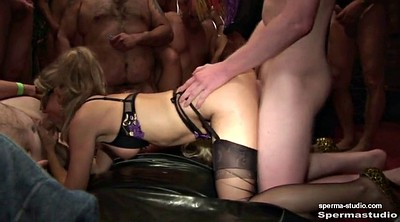 Creampie gangbang, Cum in mouth, German creampie gangbang, German creampie, Gangbang milf