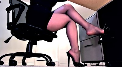Pantyhose, Footjob, Pantyhose feet, Pantyhose footjob, High heels fetish