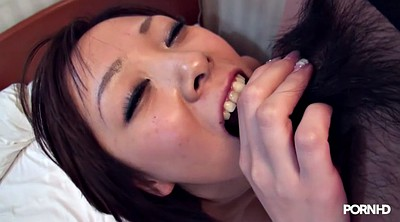 Drunk, Japanese threesome, Hairy masturbation