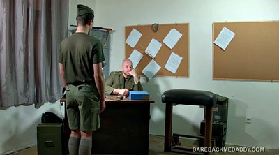 Daddy, Spank, Old daddy, Bareback, Gay office, Soldier