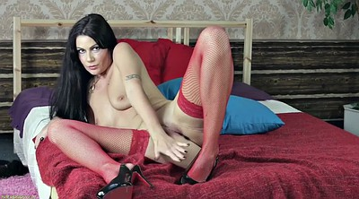 Solo stockings, Red lingerie